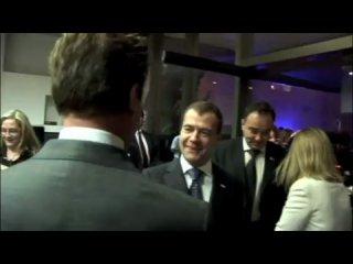 Медведев отжёг (23.06.2010) Видео прощания президента РФ Дмитрия Медведева с губернатором Калифорнии Арнольдом Шварцнегером